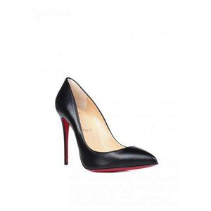 Christian Louboutin Black Leather Pigalle Pumps